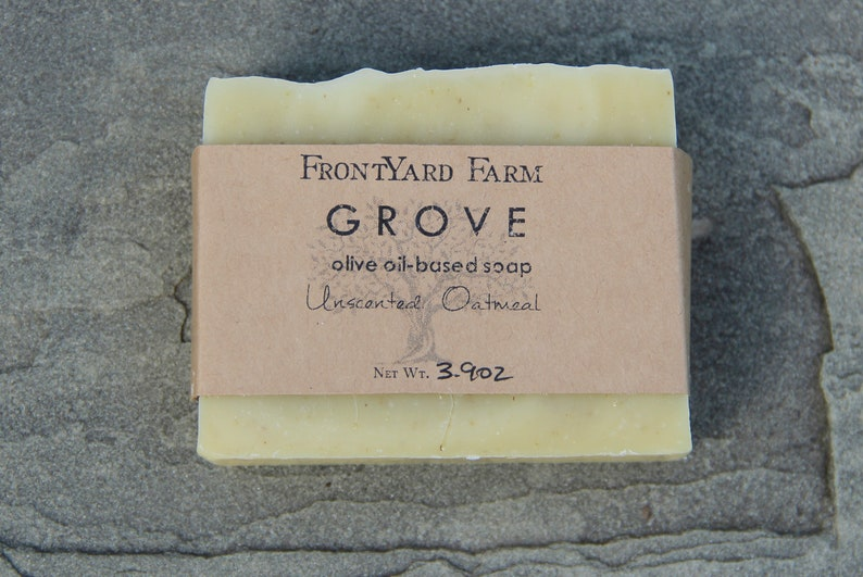 Grove Unscented Oatmeal Soap  Organic ingredients made in image 0