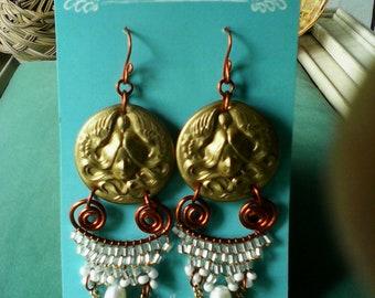 Bead woven earrings
