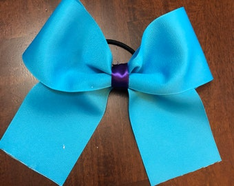 Handmade Teal Cheer Bow