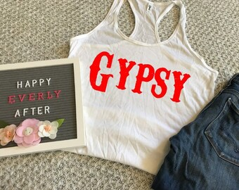 76615931 Gypsy Womens Tank Top Southern Style Womens Fashion Graphic Tee Outlaw  Grace and Grit Texas Shirt Rodeo Tank Top Country Shirt Gypsy Soul
