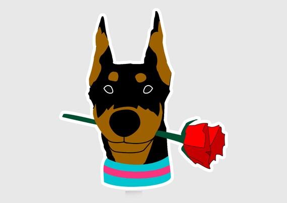 Dog Bone Shaped Magnets: Dobermans Have More Fun! Trucks Cars Pinchers