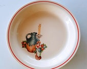 KITCHEN KRAFT Ovenserve Pie Plate Obscure Rare Pattern by Homer Laughlin Jug Candle Woman Flowers