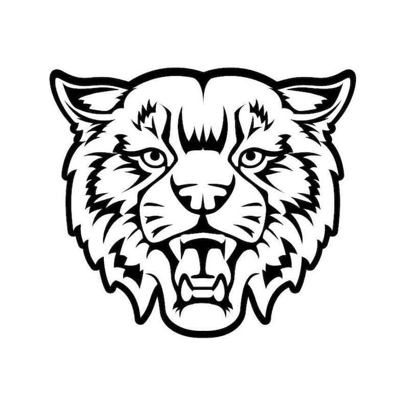Bobcat Mascot Instant Download 1 Vector Eps Dxf Svg