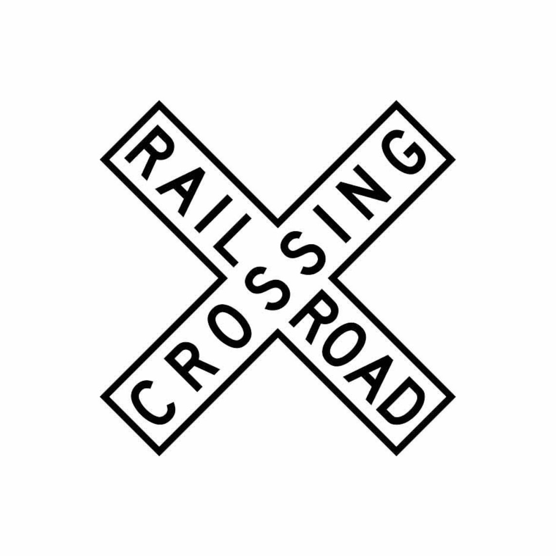 Railroad Crossing Sign train signal 1 vector .eps .svg .dxf image 0