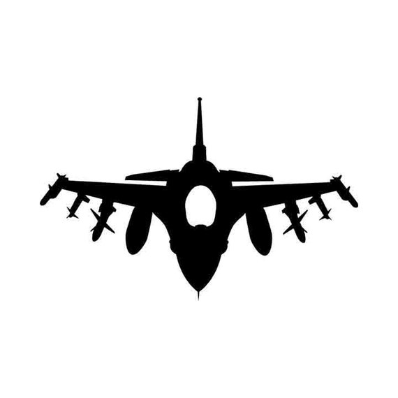 F 16 Falcon Jet Fighter Graphic Instant Download 1 Vector Eps Etsy
