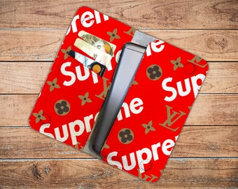 fa04c844e1a28 Inspired by Supreme Louis Vuitton Purse Leather Louis Vuitton Leather  Wallet Supreme Pouch Leather Organizer Red Wallet Supreme logo Pouch
