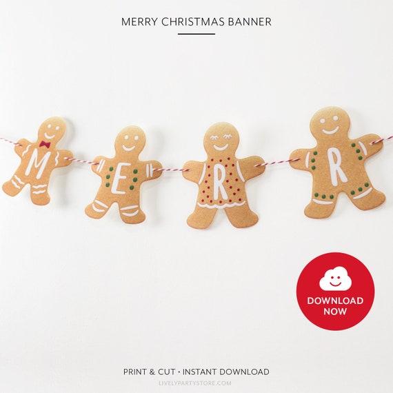 Merry Christmas Banner Printable Merry Christmas