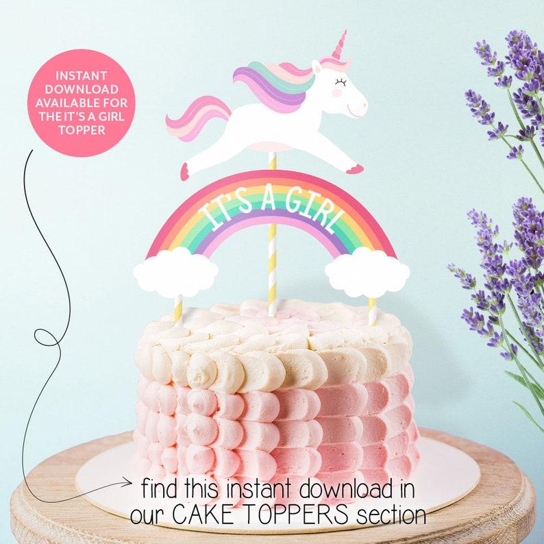 HAPPY BIRTHDAY Cake Topper Printable Unicorn