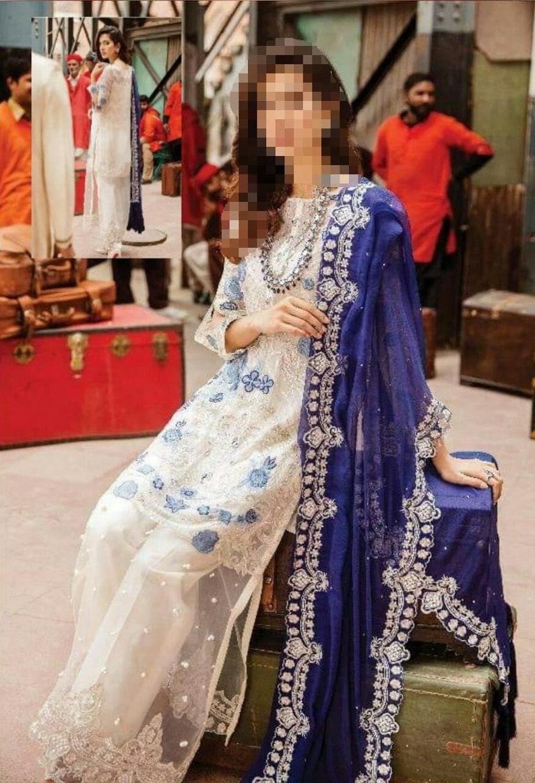 custom made embroidered chiffon salwar kameez kurti shirt trouser Pakistani Indian Bengali Eid Party wear fancy desi dress 3 piece suit