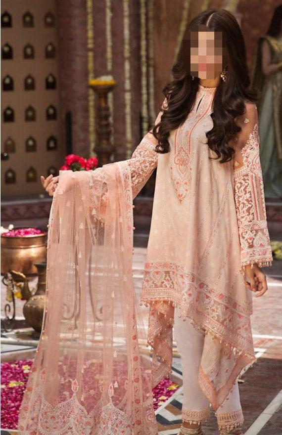 M Pakistani Indian designer 3 Piece LAWN STITCHED shalwar kameez dupatta suit