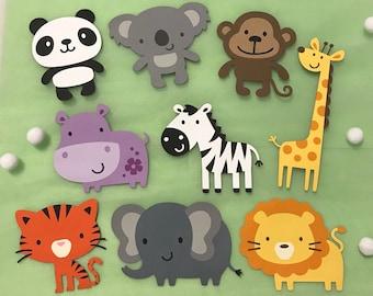 zoo animal cutout etsy