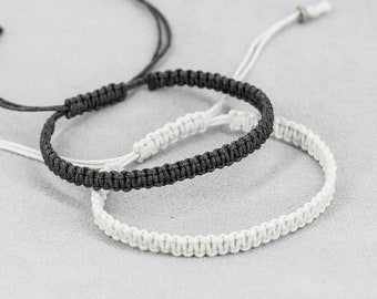 black and white his and hers couples bracelets fashion jewelry christmas gifts for couple gifts for best friends gift for boyfriend gift men