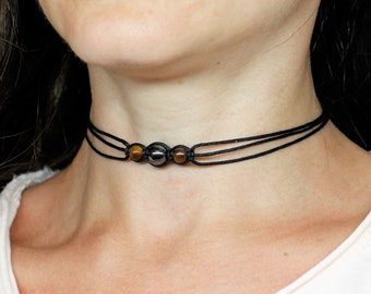tiger eye choker necklace tiger eye jewelry for women mothers day gifts for  mom gift for sister gift for wife gift for daughter gift for her 6a10fe1e57fc