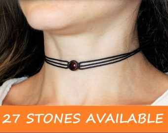 Red Garnet Choker Necklace Jewelry Stone Necklaces For Women Gifts Mothers Day Gift Mother In Law Mom