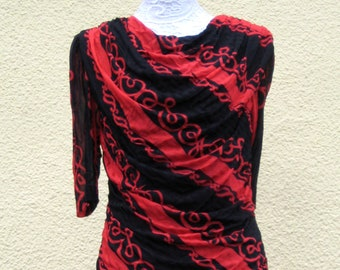 e223e7bed Vintage 1980's Black & Red Dress with RaRa skirt