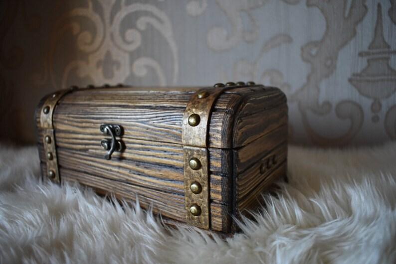Handmade Decorative Wooden Box Large Wooden Chest Jewelry Box Keepsake