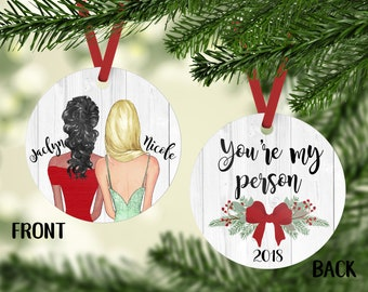 youre my person best friends ornament personalized ornament bff gift personalized friend ornament christmas ornament for friends bffs