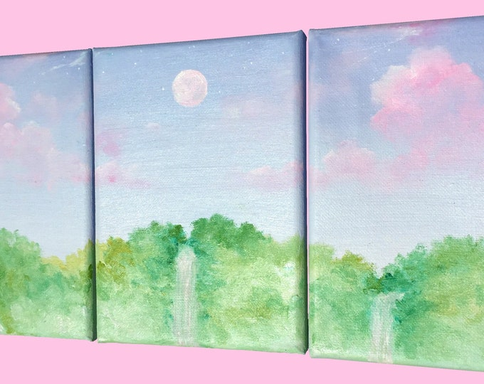 Lavender and Lilac Skies -- Oil on Canvas