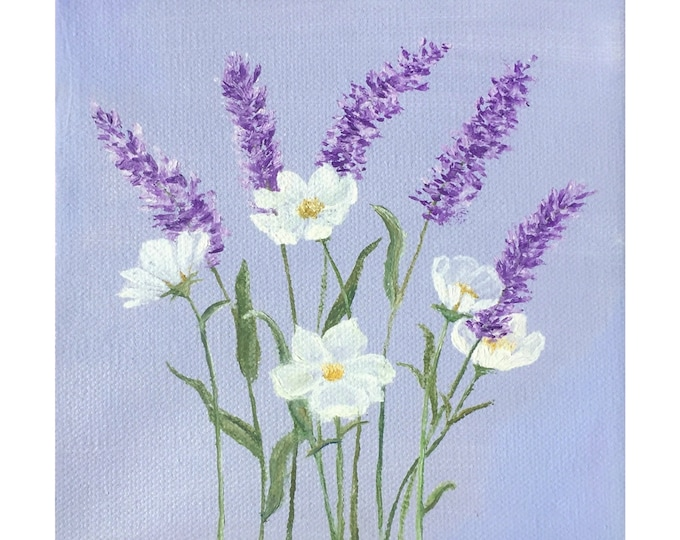 Lavender and Daisies -- Oil on Canvas