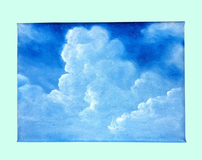 Sailing Among the Clouds -- Oil on Canvas