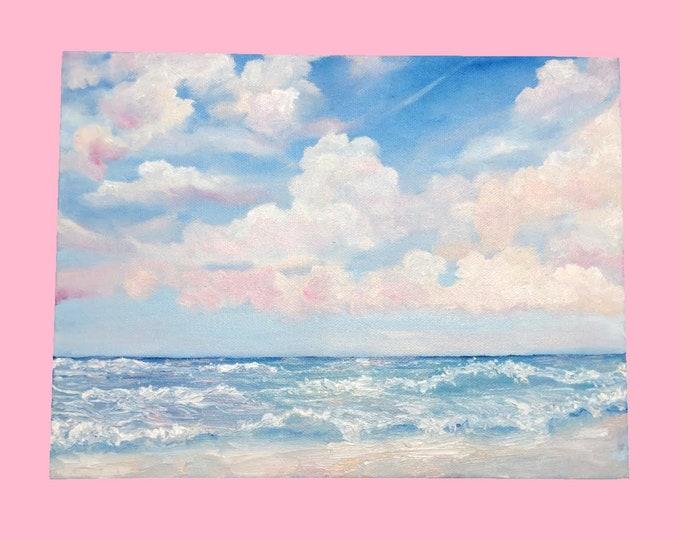 Blue Beach -- Oil on Canvas