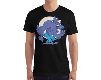 Full Moon- Men's T-Shirt- Werewolf T-Shirt- Wolfman- Halloween T-Shirt
