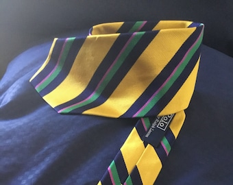 Vintage 1980s Ralph Lauren Polo tie in good vintage shape. Free shipping.