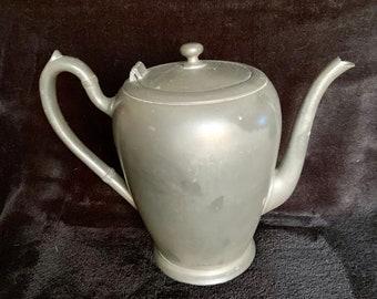 Vintage ESC Pewter Tea Pot. Good vintage shape. Free shipping