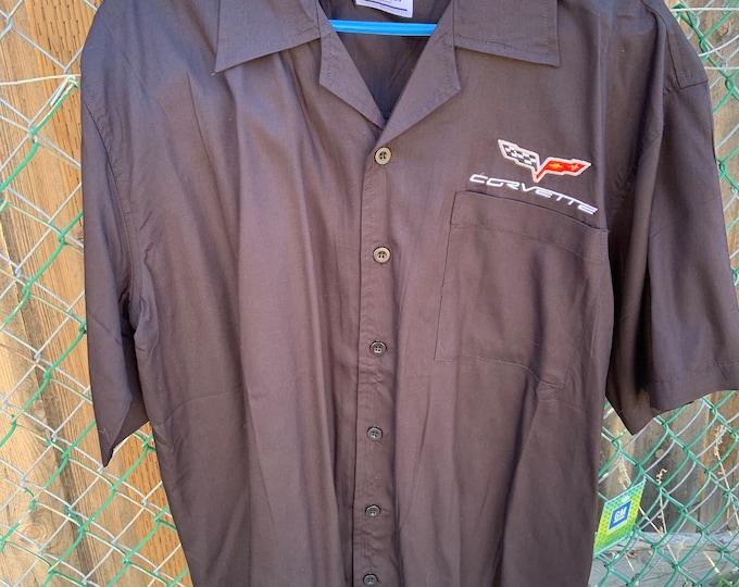 David Carey Originals Corvette Button Up Short Sleeve Shirt, Free Shipping