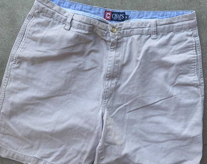 """Well Loved Vintage Chaps  Shorts 36"""" waist. Free Priority Mail Shipping"""