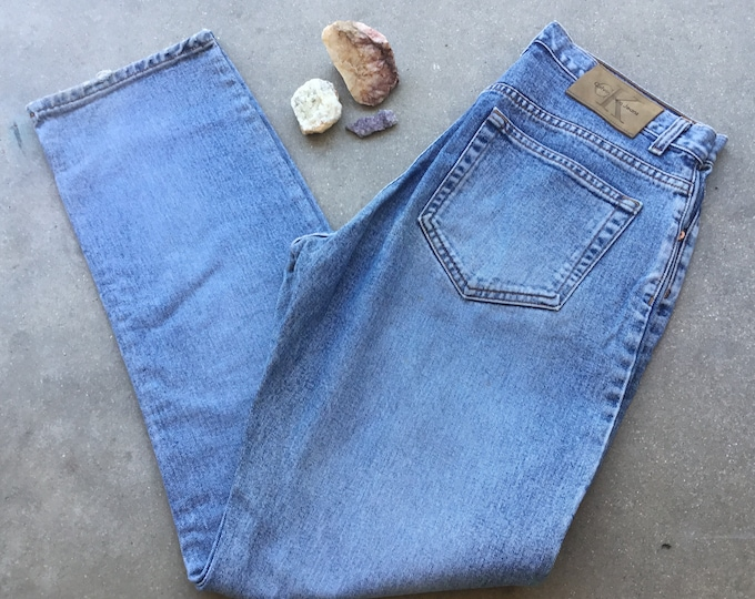 Vintage Women's Calvin Klein Jeans, Baggy Fit, Stonewashed. Size 13. Free Priority Mail Shipping in the USA