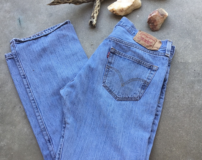 Men's Levi's 501 Jeans, Stonewashed & Distressed. Size 36 x32. Free Priority Mail Shipping in the USA
