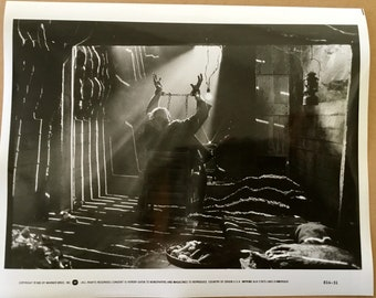 Original Goonies Movie Promo Black and White 8 by 10 Photo from Press Pack released by Warner Brothers to magazines etc for publication 1985