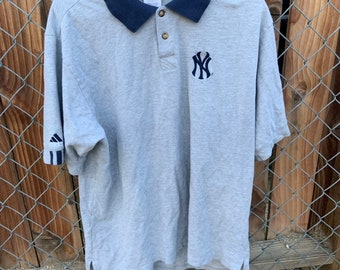 New York Yankees Adidas polo shirt in excellent condition. Free shipping