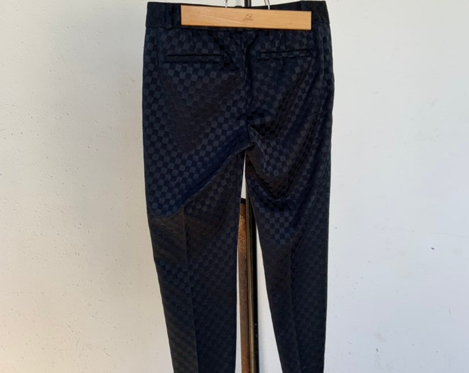 Banana Republic Hampton luxury pants with black checker board design. Size 2. Free shipping