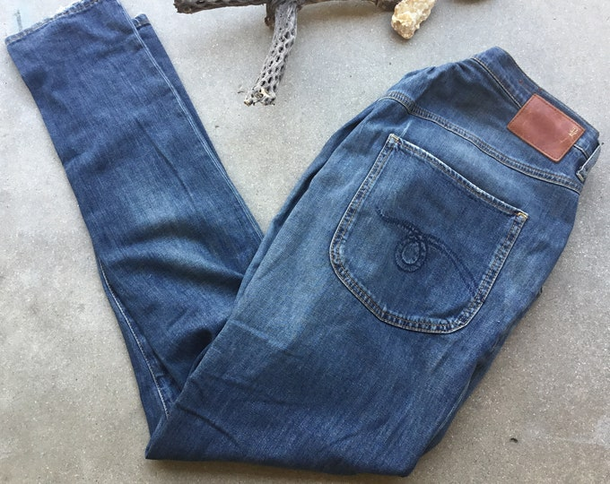 Vintage Women's Rare R13 Jeans, Skinny Straight Fit. Size 29. Made in Italy. Free Priority Mail Shipping in the USA