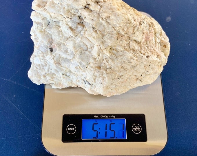 Large piece of quartz crystal rock with silver chunks. Over 5 lbs. Free Priority Mail Shipping
