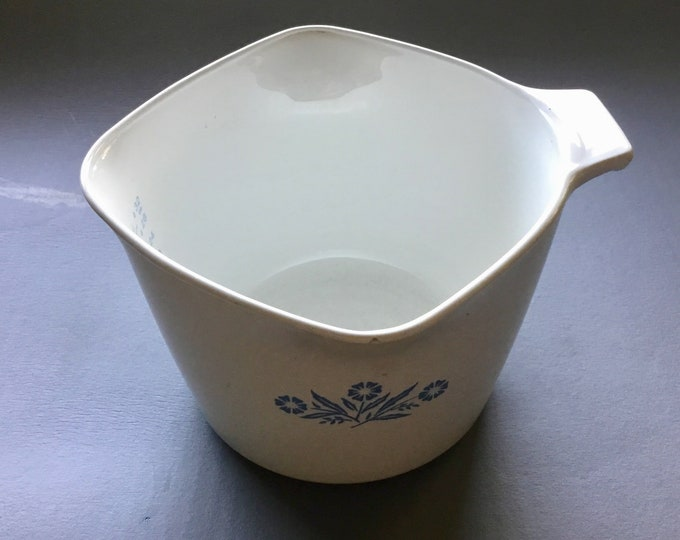 Corningware Cornflower White Milk Glass Gravy cooker , Blue and White Mid Century Gravy dish, Vintage Kitchen Free Shipping