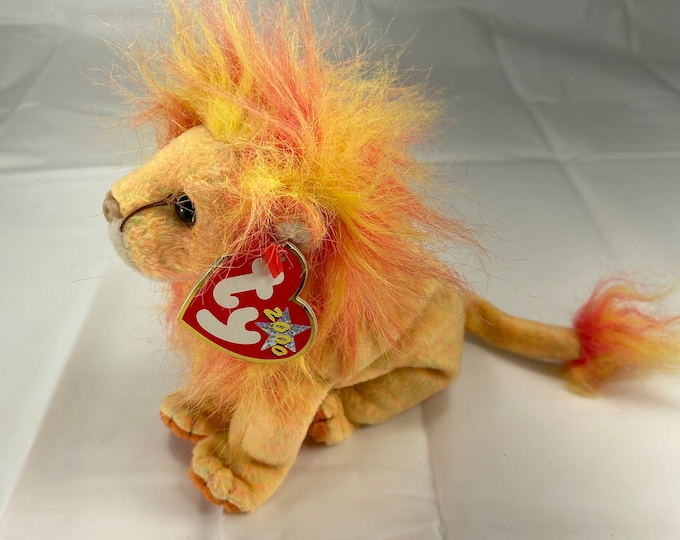 Bushy the Lion Beanie Baby!  Free Shipping