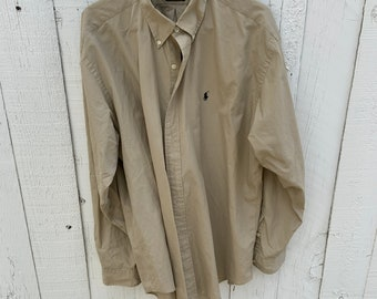 Vintage Ralph Lauren Extra Large Oxford Blake dress shirt. Great vintage condition includes Free Shipping