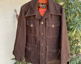 Vintage 1960s Sears Corduroy jacket so ugly it's beautiful. Free shipping