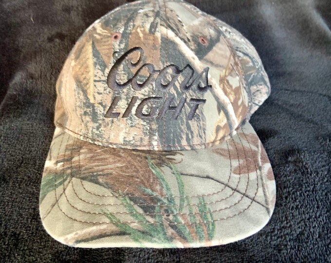 Retro 90s Snap back camouflage Coors Light Hat. Free shipping