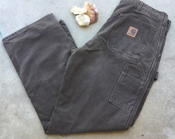 Men's Vintage Carhartt Utility Pants, Straight Fit, Perfectly Broken-in, Size 34 x 30. Free Priority Mail Shipping in the USA
