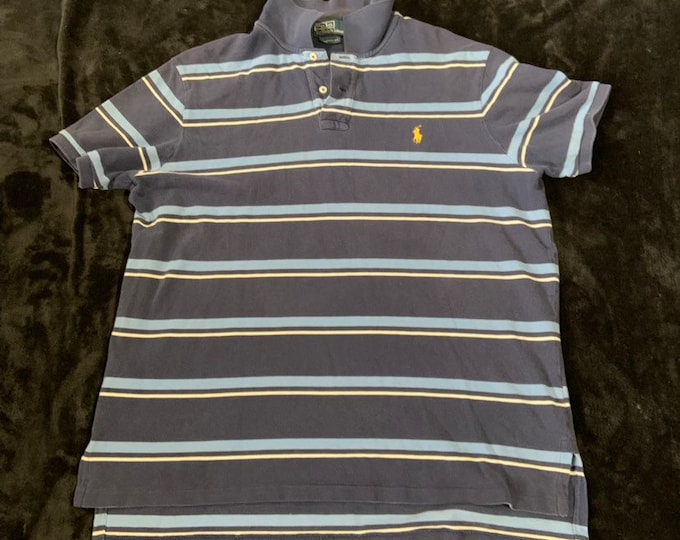 Vintage Polo by Ralph Lauren striped polo shirt in vintage condition size xLarge  Free Shipping