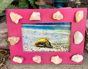Vintage frame with quartz crystal added with Exclusive Salton Sea Photo included