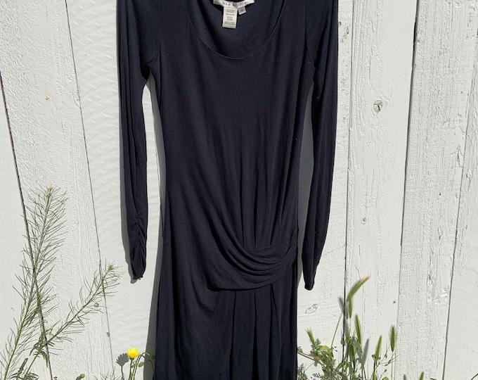 Vintage Max Studio Black Rayon Dress. Free shipping