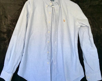 Ralph Lauren Large Oxford dress shirt. Color polo logo  Great vintage condition includes Free Shipping
