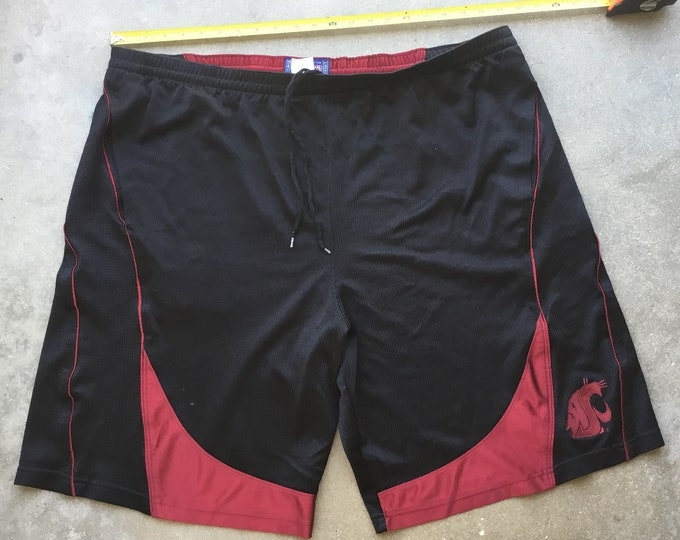 Men's Champs by Team Edition Apparel Athletic: Washington State University shorts in great shape. Free Shipping