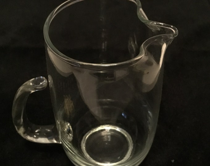 Vintage 16oz syrup serving small pitcher great condition.