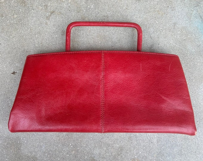 Maxx New York red leather clutch